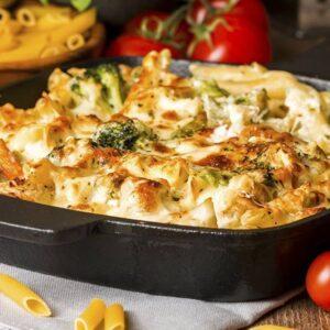 Rigatoni gratinati con spinaci