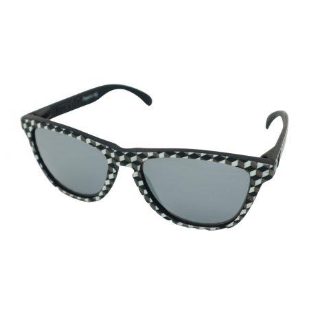occhiali da sole neri foreyever escher